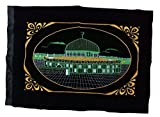 Velvet Fabric Stiching Poster Amn054 Al-Aqsa Mosque Picture Embroided Islamic Art Muslim Gift House Decor - No Frame (Green)