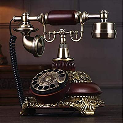 WENYAO Teléfono, Tocadiscos Retro Antiguo Teléfono Jardín Oficina ...