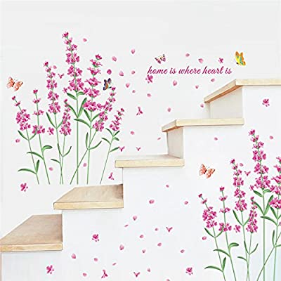 Amazon Wall Sticker Home Art Quotes Romantic Diy Nature Flowers