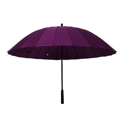 NAN Paraguas 24 Hueso Paraguas Grande Paraguas Grande Tres Paraguas Largo Paraguas Rectos Paraguas Reforzado (