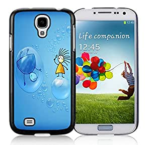 Popular Designed Case With Bubbles Cover Case For Samsung Galaxy S4 I9500 i337 M919 i545 r970 l720 Black Phone Case CR-094