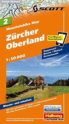 MTB-Karte 02 Zürcher Oberland 1:50.000: Mountainbike Map (Hallwag Mountainbike-Karten) (Englisch) Landkarte – Folded Map, 15. Juli 2011 Hallwag Kümmerly + Frey 382830737X Karten / Stadtpläne / Europa Atlas