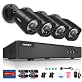 Annke 8-Channel HD-TVI 1080P Lite Video Security System DVR and (4) Weatherproof Indoor/Outdoor Cameras with IR...