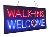Walk-ins Welcome Sign, Super Bright LED Open Sign, Store Sign, Business Sign, Window Sign, LED Neon Sign