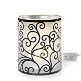 Yankee Candle Scroll Collection withLed Electric Wax Melts Warmer