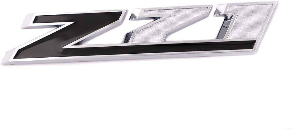 Decal Badge For Silverado GMC Colorado Sierra Tahoe Suburban 2500Hd 3500Hd Silver-Red Large Size 3D Z71 Emblem