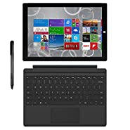 Microsoft Surface Pro 3 Tablet (12-inch, 256 GB, Intel Core i5, Windows 10) + Microsoft Surface Type Cover (Certified Refurbished)