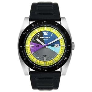 Diesel DZ1258 - Reloj para hombres, correa de cuero color negro