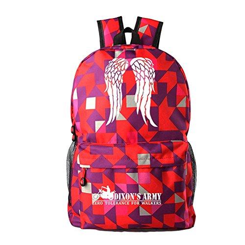 The Walking Dead Cosplay beiläufige Beutel-Rucksack-Schultasche-leuchtende Tasche 18 Wahlen rotes Quadrat