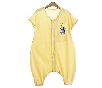 fzw Bolsa de dormir sin mangas para bebés Sección de verano del niño Pierna del bebé