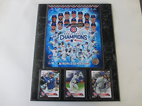 CHICAGO CUBS 2016 WORLD SERIES CHAMPIONS PHOTO & CARD (Champions Team Plaque)