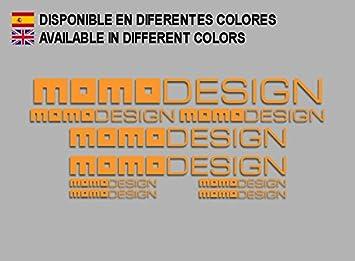 Ecoshirt CB-6FAC-LJJR Pegatinas Moto Momodesign F161 Stickers Aufkleber Decals Autocollants Adesivi, Naranja: Amazon.es: Coche y moto