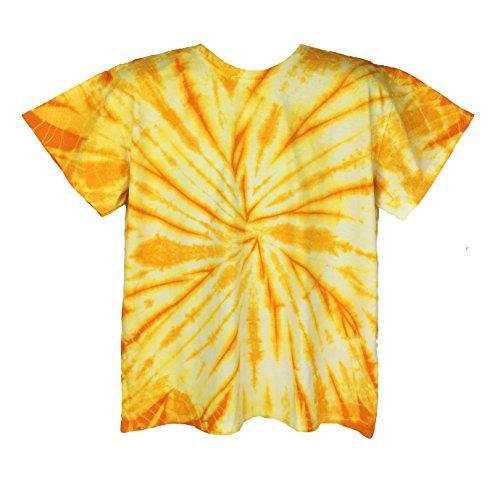 Pattern Tie Dye T-shirt (Poramo Handmade Tie Dye Shirts For Men/Women Sizes S - 5XL. (Adult Small, Yellow))