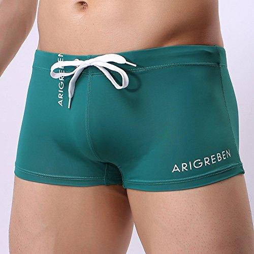 226b282559 F_Gotal Men's Swim Trunks Quick Dry Board Shorts Solid Color Swimming Shorts  Boxer Briefs Swimwear Bathing