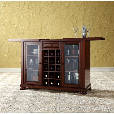 Crosley Furniture Sliding Top Bar Cabinet