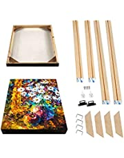"""Wood Stretcher Bars Painting Canvas Wooden Frame for Gallery Wrap Oil Painting, Art Stretcher Bars,16x20 Canvas Mounting Kit, Stretcher Strips for Canvas Oil Painting & Wall Art, 40x50cm/16""""x20"""""""