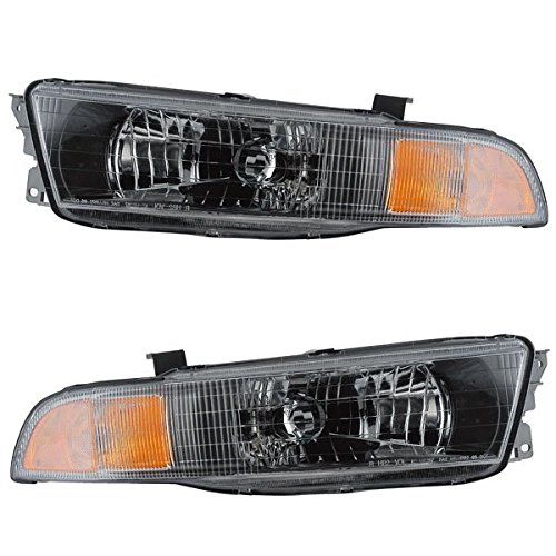 2002-2003 Mitsubishi Galant Front Head Light Lamp Headlight Headlamp Set Pair Right Passenger AND Left Driver Side (03 02)