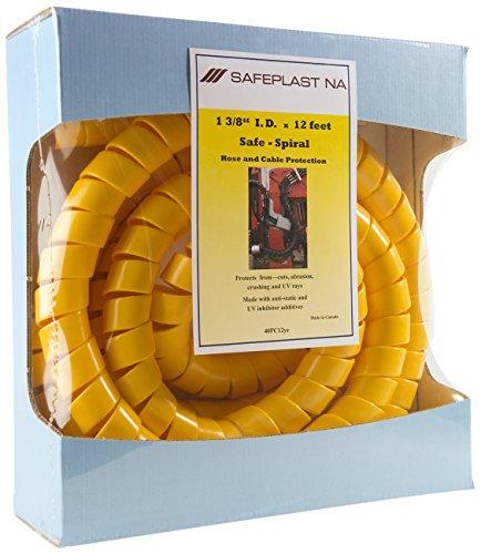 "Pre-Cut Spiral Wrap Hose Protector, 1.5"" OD, 12"