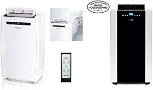 Honeywell MN10CESWW Environmental Appliance, Rooms Up To 350-450 Sq. Ft, White & Whynter ARC-14S 14,000 BTU Dual Hose Portable Air Conditioner with Carbon Filter plus Storage bag Platinum And Black