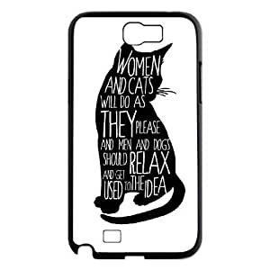 Brand New Phone Case for Samsung Galaxy Note 2 N7100 with diy black cat