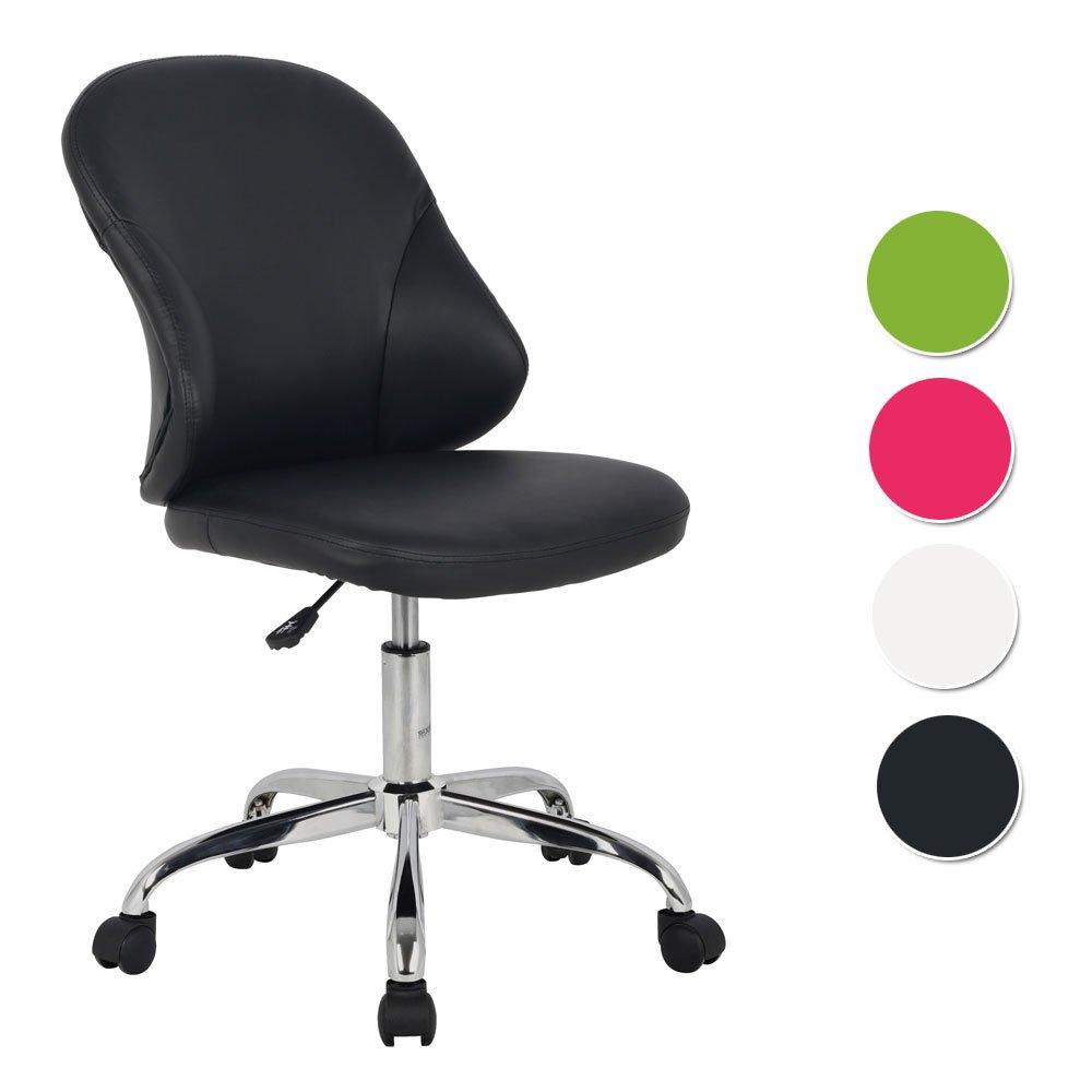 SixBros. Sgabello girevole da lavoro sedia da ufficio nero - noir - H-2421/1819
