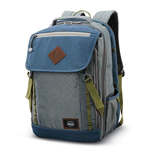"American Tourister Dig Dug Backpack, Grey/Navy, 18"""