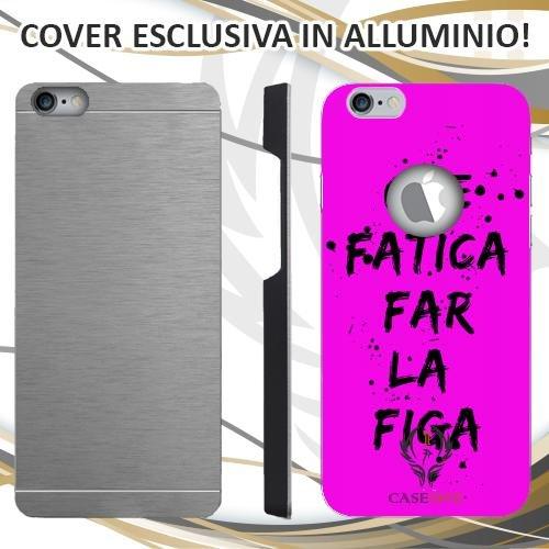 CUSTODIA COVER CASE VITA DA FIGA PER IPHONE 6 6S IN ALLUMINIO