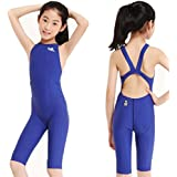 YingFa 925-2 one Piece Racing Swimsuit FINA Approved Swimsuit for Girls -Sharkskin Swimsuit Girl's Size 4-6/Speedo Size 24/China Size XS