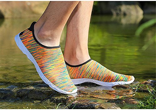 Huateng Adultos Sand de Yoga Playa Swim Yoga Zapatos Para Durable Exercise Agua Naranja Slip Sole Aqua Para Shoes Surf Water Piscina Lightweight de On Shoes rr8wqUa