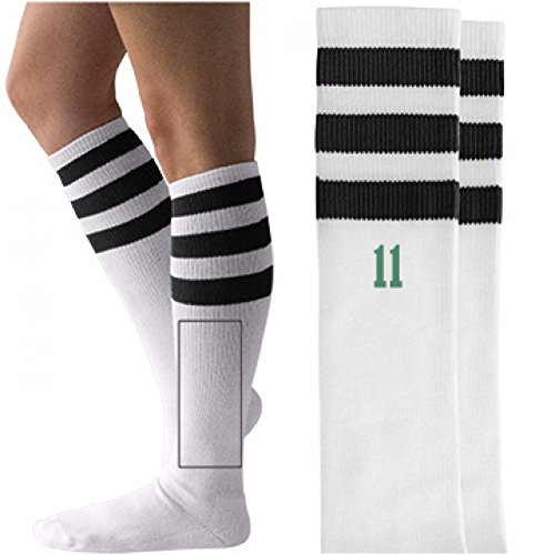Eleven Hawkins Indiana Costume: Unisex Striped Knee-High Socks (Pop Culture Halloween Costume Ideas)
