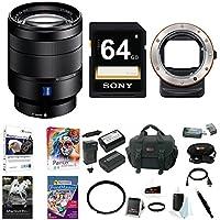 Sony 24-70mm f/4 Zoom Lens, LAEA3 A-Mount Adapter Bundle Package
