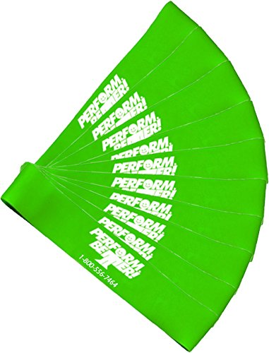 Perform Better Exercise Mini Band, Green-Medium - Set of 10 (Exercise Guide (Activities Will Guide)
