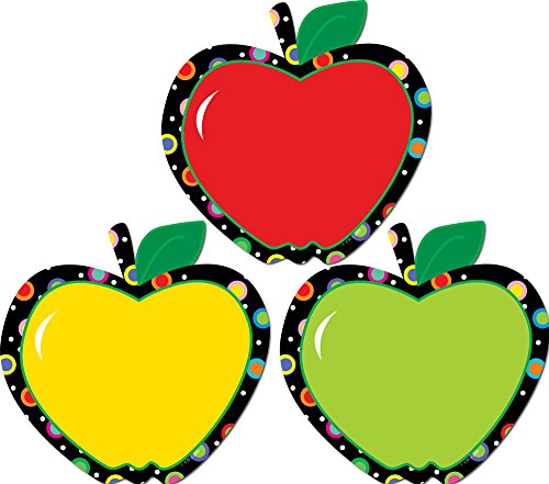 Creative Teaching Press 6-Inch Designer Cut-Outs, Poppin' Patterns Apples (6238)