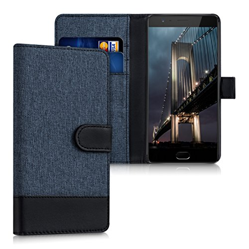 Wallet Flip Leather Case Cover For OnePlus 3T / OnePlus 3 (Blue) - 2