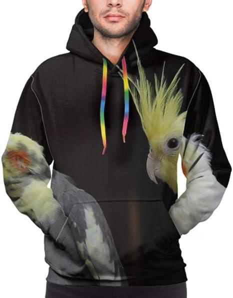 Unisex Pullover Sweatshirt Hoodie Mens Women Sweater Print Cockatiel Bird Animal
