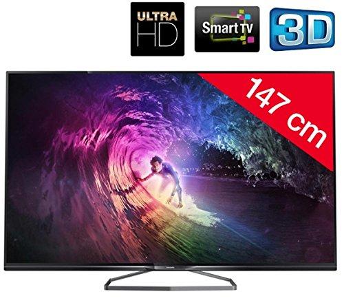 Philips 58PUK6809/12 147cm (58 Zoll) Fernseher (Ultra HD, Triple Tuner, 3D, Smart TV)