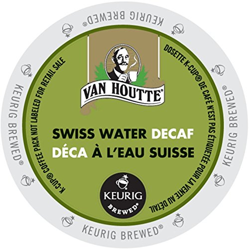 Van Houtte Cafe Swiss Water Decaf, Fair Trade & Organic Light Roast Coffee for Keurig Brewers, 24-Count K-Cups (Pack of 2)