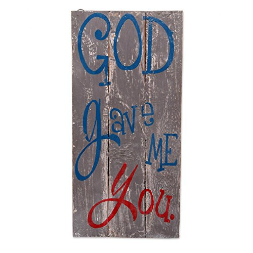 NOVICA Gray Hand Made Wood Religious Inspirational Sign, God Gave Me You' by NOVICA