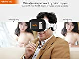 Hellopro 3D VR Box Virtual Reality Glasses Bluetooth Remote Control With HIFI Earphone 360 Degrees Movie Game for Android IOS Windows