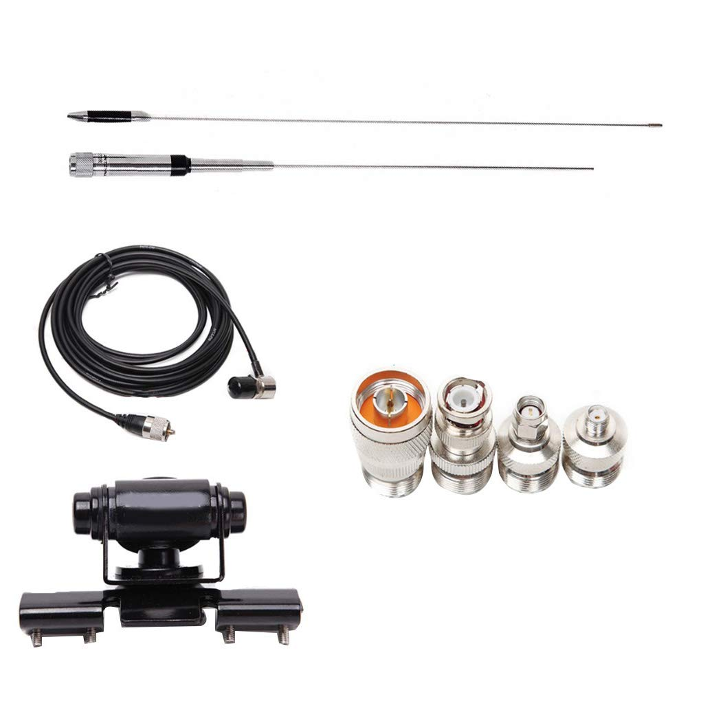 Clip heacker Metallo NL-770R Kit Alimentatore Clip 770R UHF Alimentatore//Antenna Radio VHF 4 per Testa Radio bidirezionale Accessori