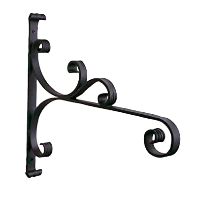 Achla Designs B-28 All-Purpose, Large Wrought Iron Wall Bracket Hook, Black : Plant Hooks : Garden & Outdoor