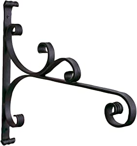 Achla Designs B-28 All-Purpose, Large Wrought Iron Wall Bracket Hook, Black