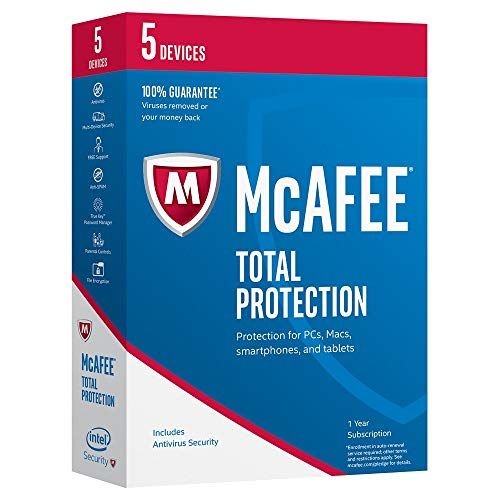 McAfee 2017 Total Protection-5 Devices (MTP17ETG5RAA) (Best Computer Virus Protection)
