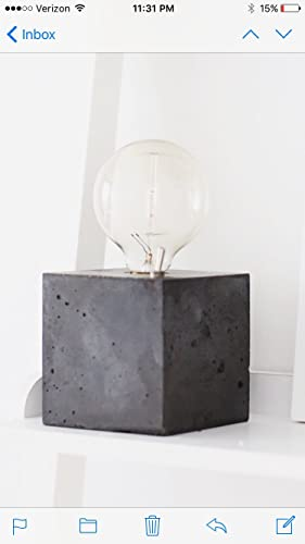 Amazing Concrete Cube Table Lamp
