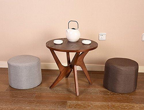 Amazon.com: Taburete pequeño de madera maciza para el hogar ...