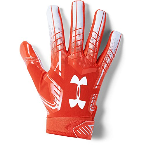 Under Armour Men's F6 Football Gloves, Dark Orange (860)/White, X-Large by Under Armour