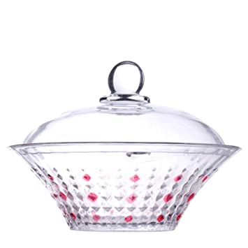 Amazon Crystal Glass Bowls With Lid High Storage Tank Dried Mesmerizing Decorating With Crystal Bowls
