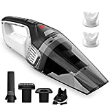 Homasy Handheld Vacuum Cordless, 6Kpa Powerful Cyclonic Suction Vacuum Cleaner Accessories Kits, 2200mAh Lithium Portable Rechargeable Car Vacuum Bagless Cleaner with Quick Charge, Wet Dry Cleaner for Pet , Carpet, Dust, Gravel Cleaning, Black