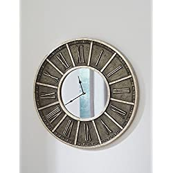 Ashley Furniture Peer Wall Clock Champagne/Black/Traditional