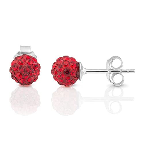 red earrings swarovski jewelry silver drop gallery lyst crystal product tone in
